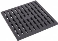 Решетка к дождеприемнику (черная), 0,288*0,288*0,027м