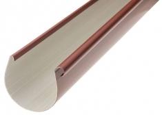Жёлоб водосточный ПВХ, цвет красный, длина-3м,-диаметр-125-мм
