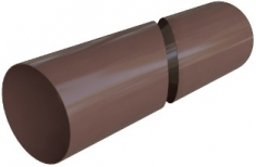 Труба водосточная с муфтой ПВХ, цвет Коричневый 3м